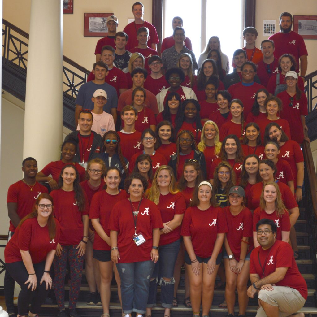 2018 Bama Biology Bootcamp participants, student mentors and instructors